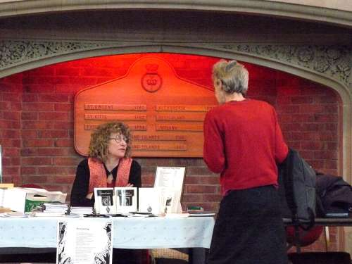 Ellen Phethean and Gillian Allnutt in conversation at the Book Fair