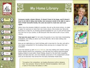 My Home Library website